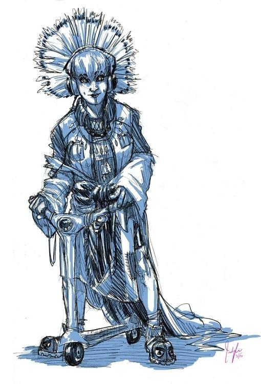 Pencil sketch, digitally colore - candaceaprillee | ello