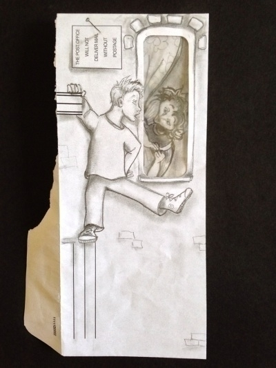 Peeping Envelope - pencil, envelope - catsnodgrass | ello