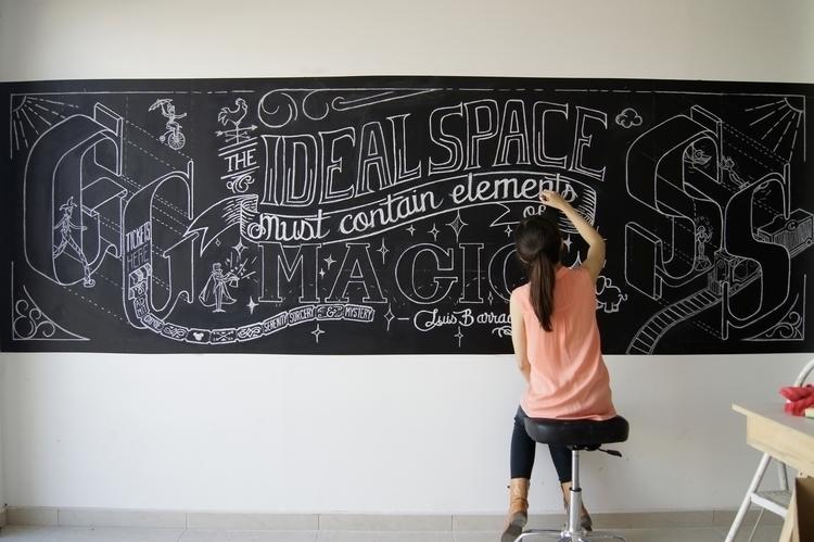 Chalk lettering process previou - gemmaroman | ello