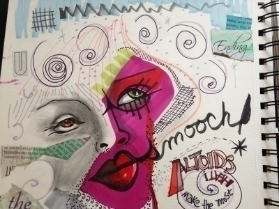 sketchbook, doodle, doodles, markers - catsnodgrass | ello