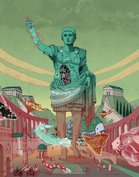 August - illustration, august, emperor - nicolascastell   ello