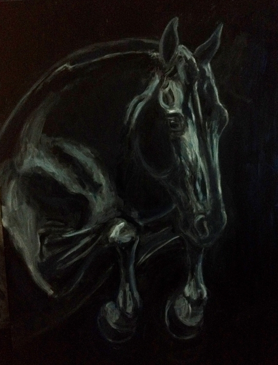 horse, painting - lyndaelyzoo | ello