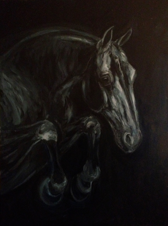horse, painting - lyndaelyzoo   ello