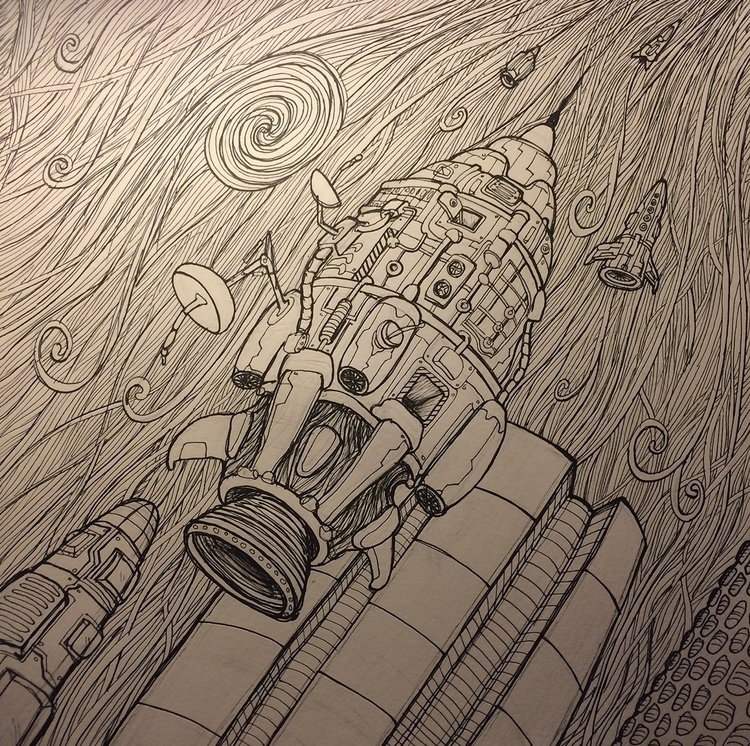 Spaceships - illustration, spaceship - rutgervandeelen | ello