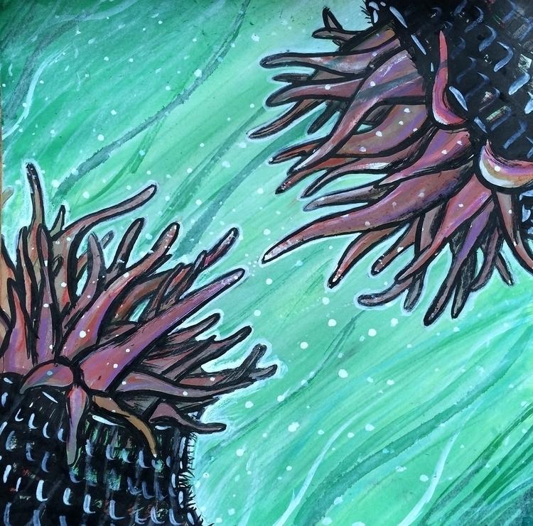 Sea anemones - seaanemones, painting - rutgervandeelen | ello