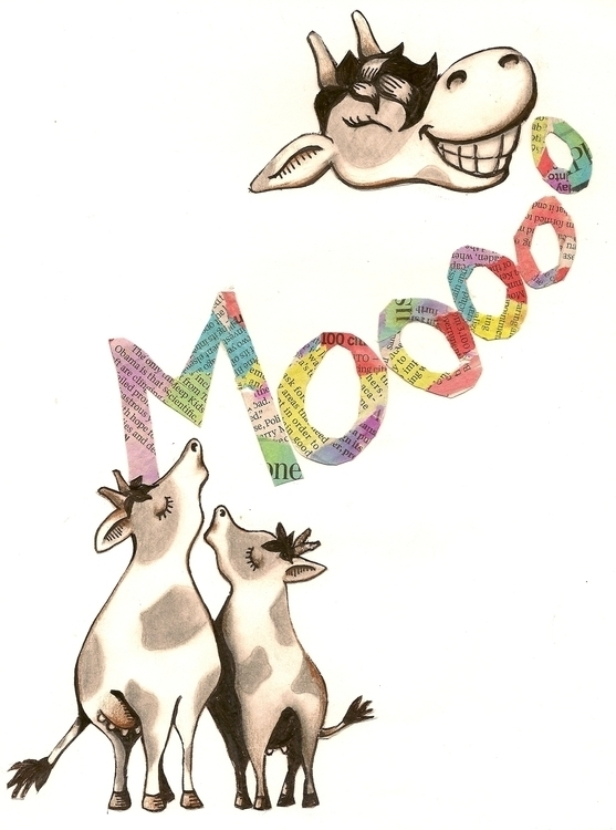 Cows Mooed, Good MOOD - collage - catsnodgrass | ello