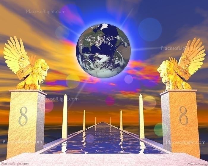 Gate - lion, earth, mystical, digitalart - emcdonough   ello