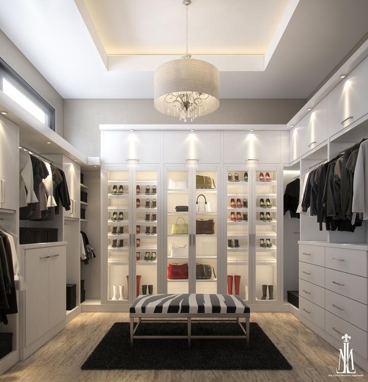 closet design - 3d, 3drendering - arqmarenco | ello