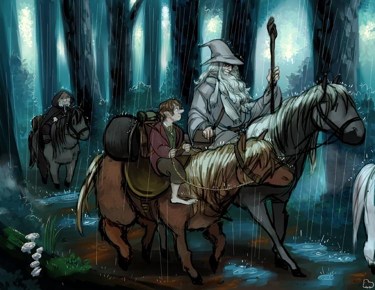 illustration Hobbit 2015 fan ca - sheeprilyn | ello
