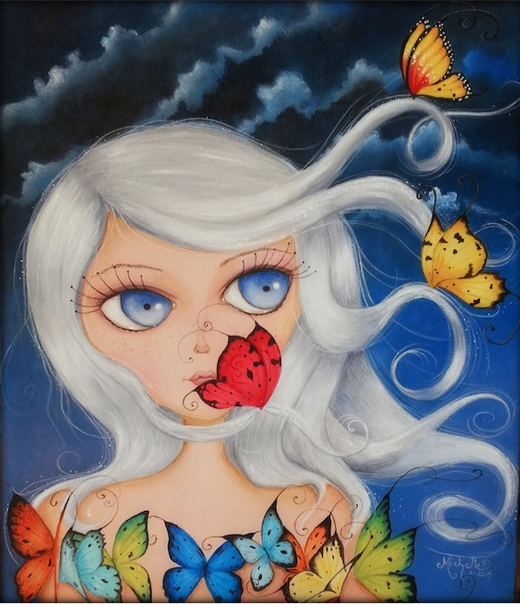 Sashi Moon Acrylic canvas - painting - michellecortazar10 | ello