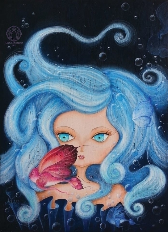 Ondine Acrylic canvas - painting - michellecortazar10 | ello