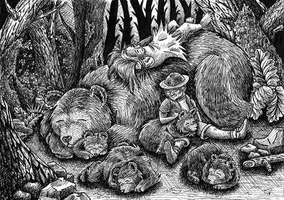 Sleeping, penink, ink, children - kaytiespellz | ello