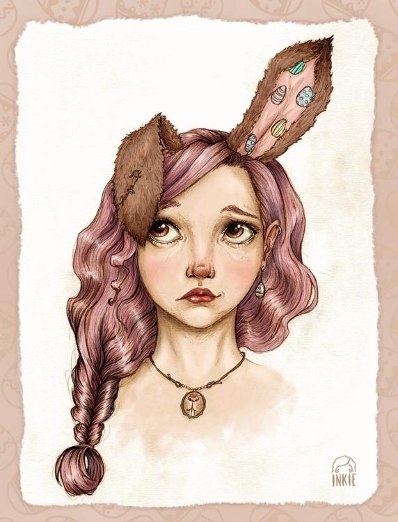 Bunny girl - bunny, easter - inkiestuff | ello