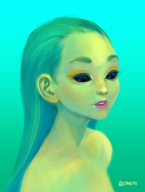 painting, characterdesign - redheyll | ello