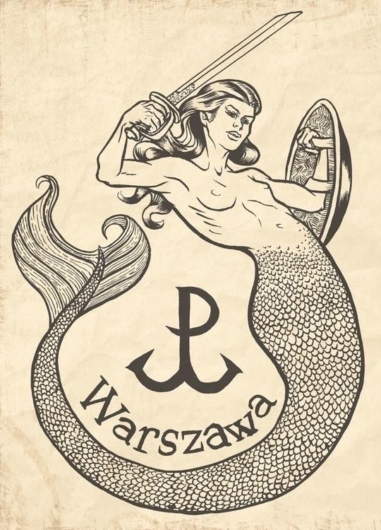 Syrenka - mermaid, warsaw, poland - zickkori | ello