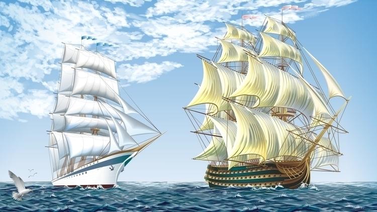 Vector naval ships - vector, ship - tatyana_pro | ello
