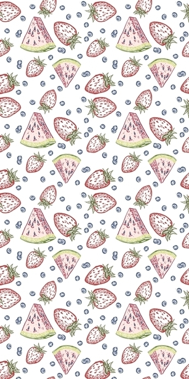 watermelon, strawberries, berries - kaytiespellz | ello