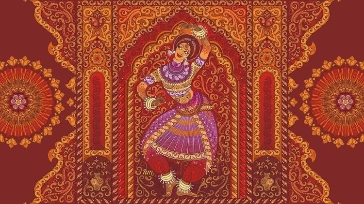 magic Indian dance - vector, ornament - tatyana_pro | ello