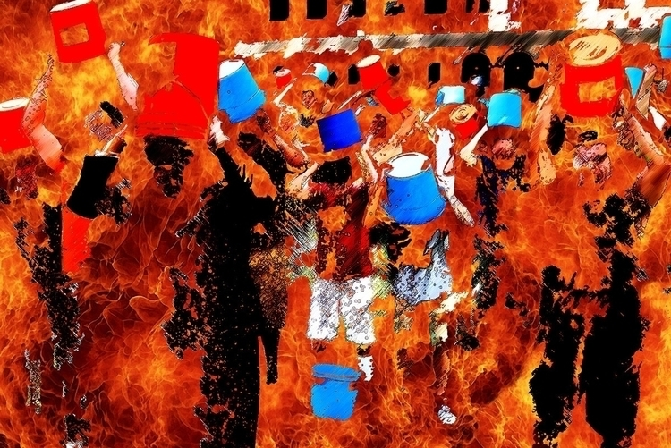 Catch fire - digitalart, digitalillustration - stefanolazzaro | ello