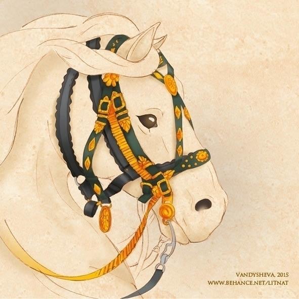 Illustration horse calendar - illustration - litnat | ello