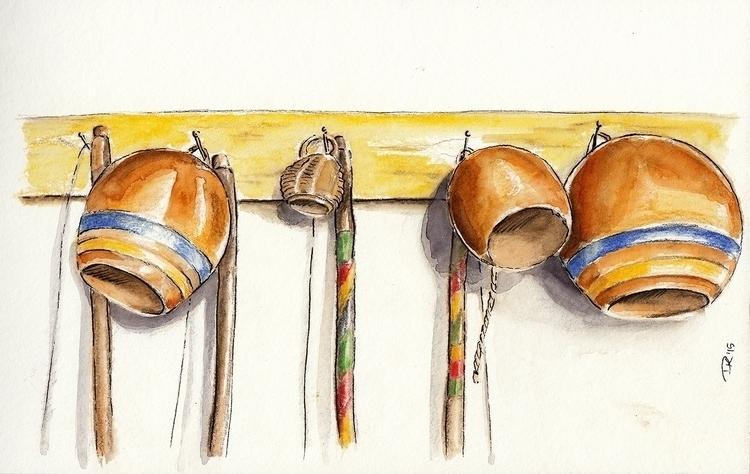 cabaças - watercolor, pencildrawing - dannyknebel | ello