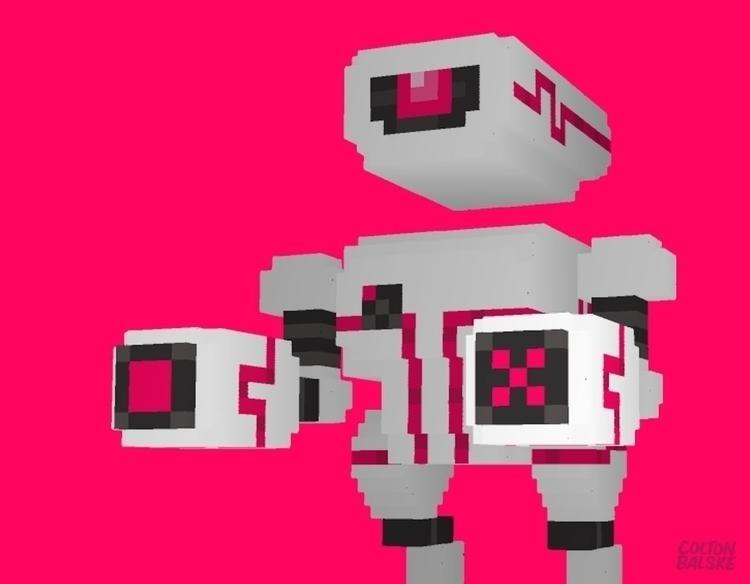 DESTRUCTO BOT - gameart, 3d, characterdesign - coltonbalske | ello