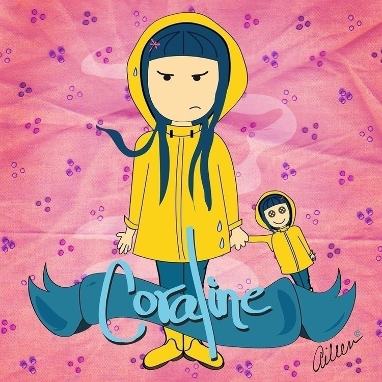 Coraline - fanart, illustration - aileencopyright | ello