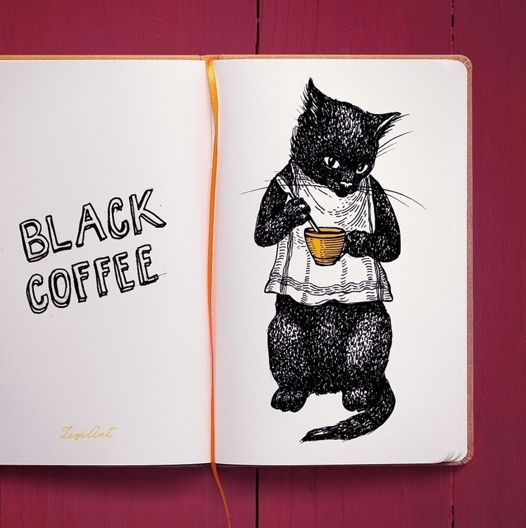 Black Coffee hand-drawing - black - zizilka | ello