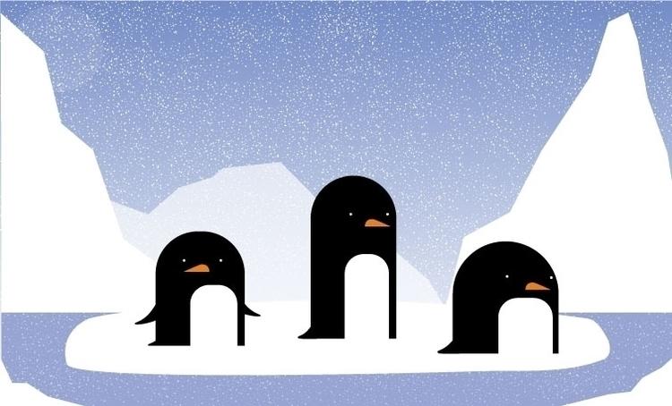 Penguins | 2015 Digital Art fun - xeiino | ello