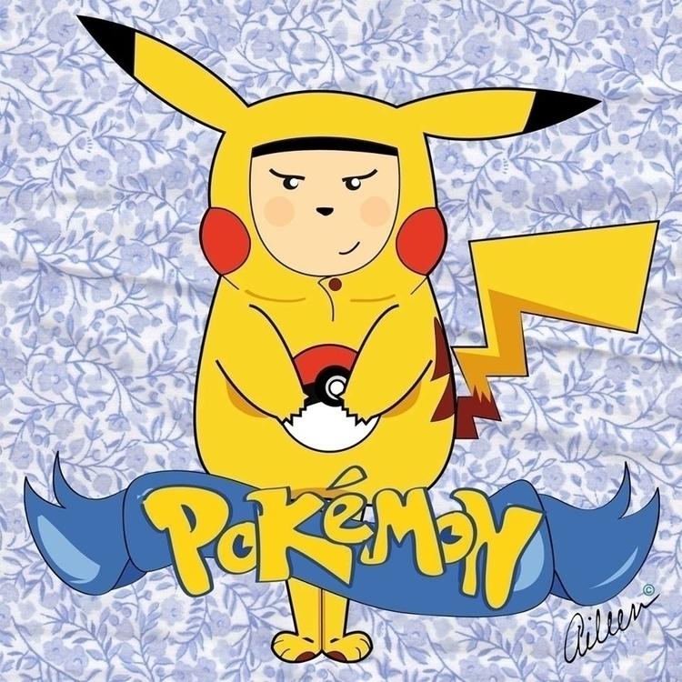 Pikachu ????? - Pokémon - fanart - aileencopyright | ello