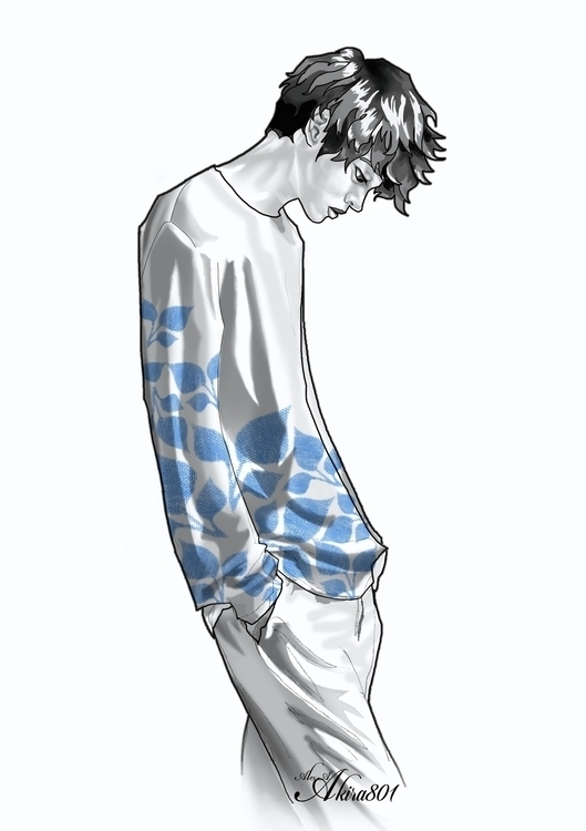 FLOWER BOY BLUE: Part sketch se - akira69 | ello