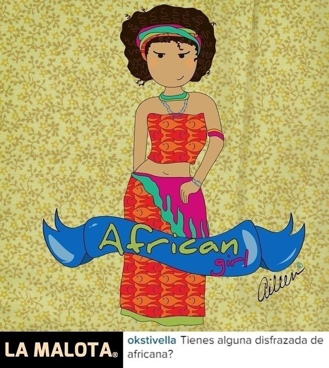 Chica Africana - African Girl - fanart - aileencopyright | ello