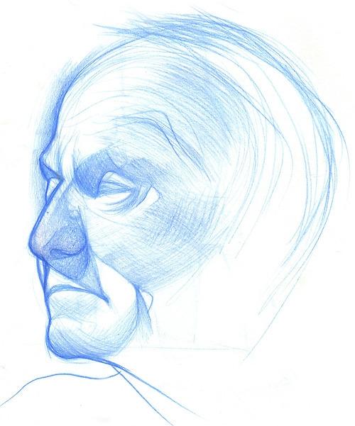 blue, sketch, portrait - emilyjulstrom | ello