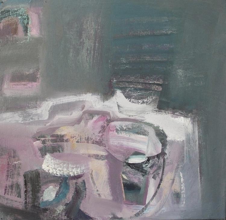 meditation cup sake - painting - vladimirmishyra | ello