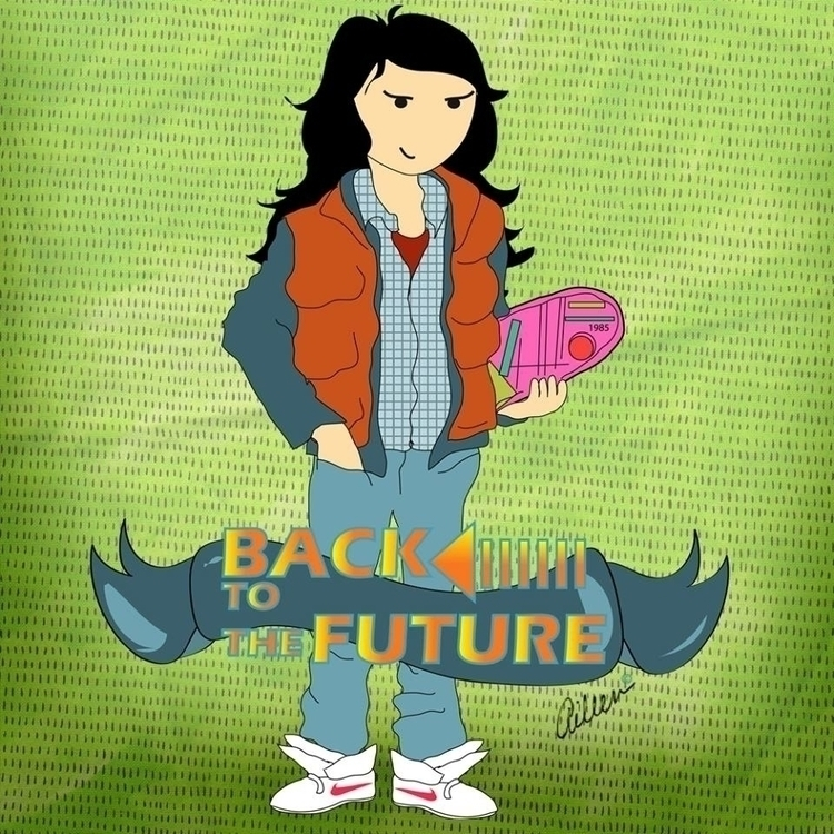 Marty McFly - Future Trilogy - fanart - aileencopyright | ello