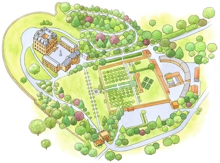 National Trust Map - illustration - ianrward | ello