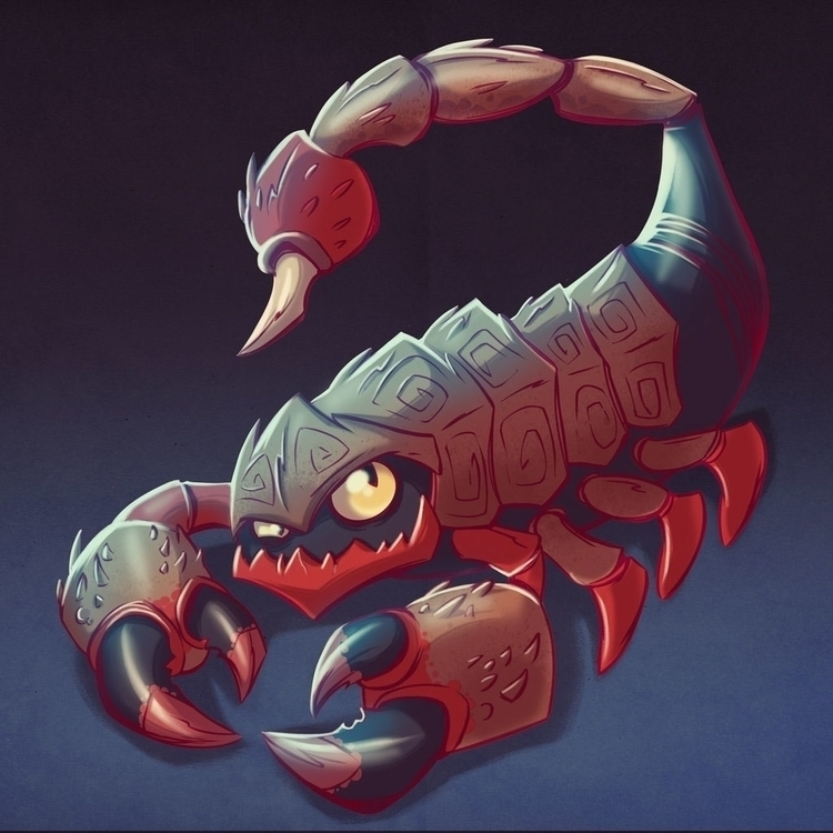 Scorpion - illustration, conceptart - michelverdu | ello