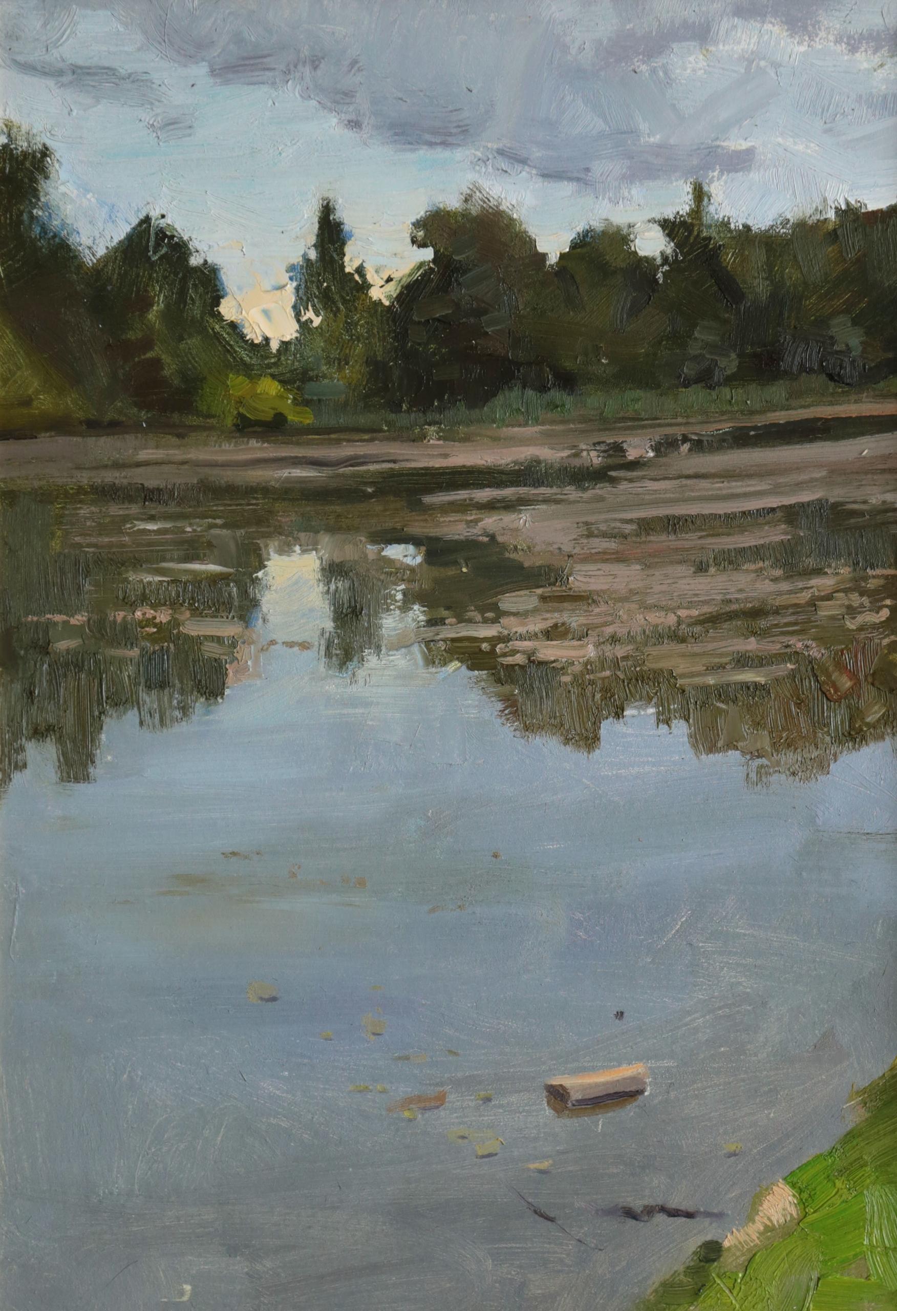 2015, 33x48 cm. Evening - art, oilpainting - georgemamchur | ello