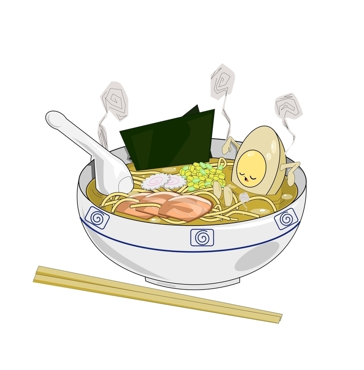ramen relaxation - illustration - iro-6033 | ello