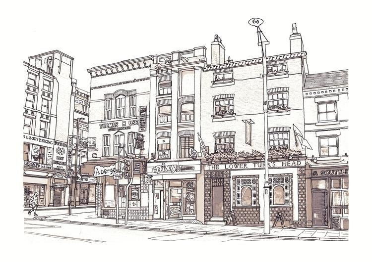 Drawing Shudehill, Manchester U - ajgartanddesign | ello