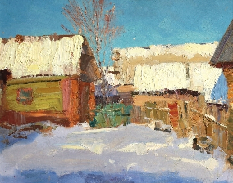 January village 2015, 40x50 cm - georgemamchur | ello