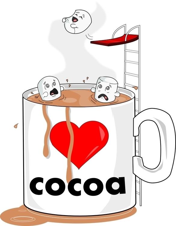 love cocoa - illustration, food - iro-6033 | ello