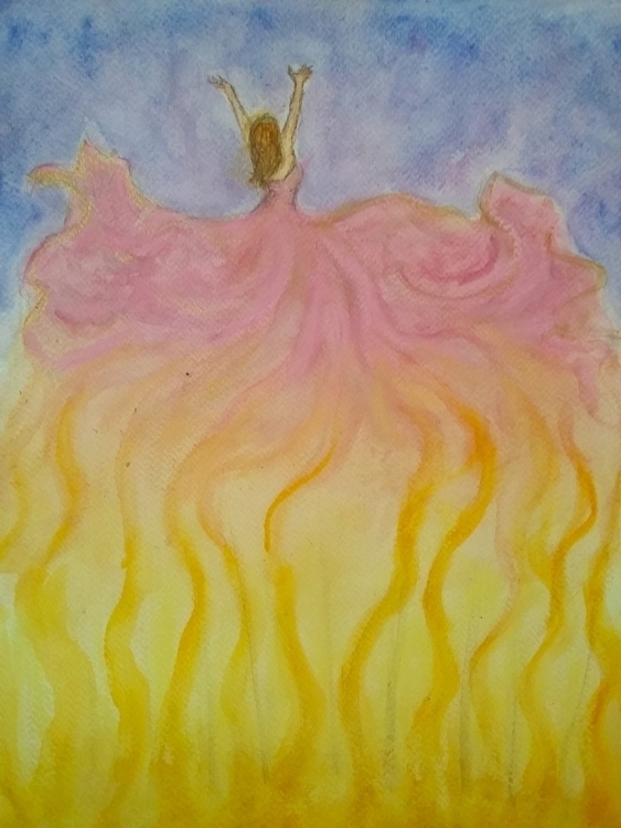Dancer dawn - painting, watercolor - jenhallbrown | ello