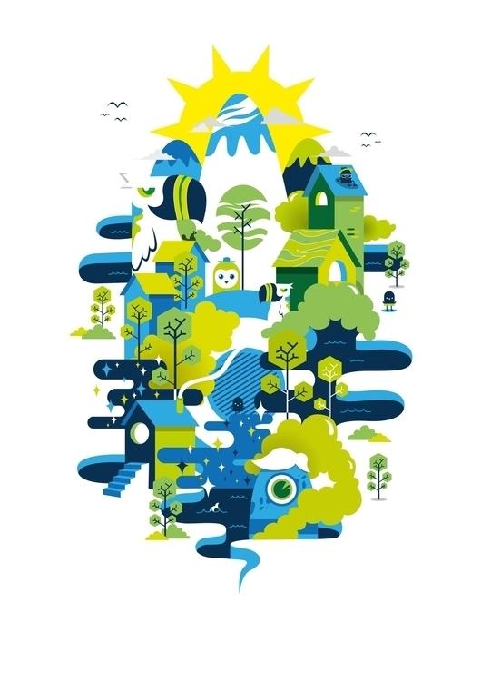 forest - design, vector, flatdesign - ozyero | ello
