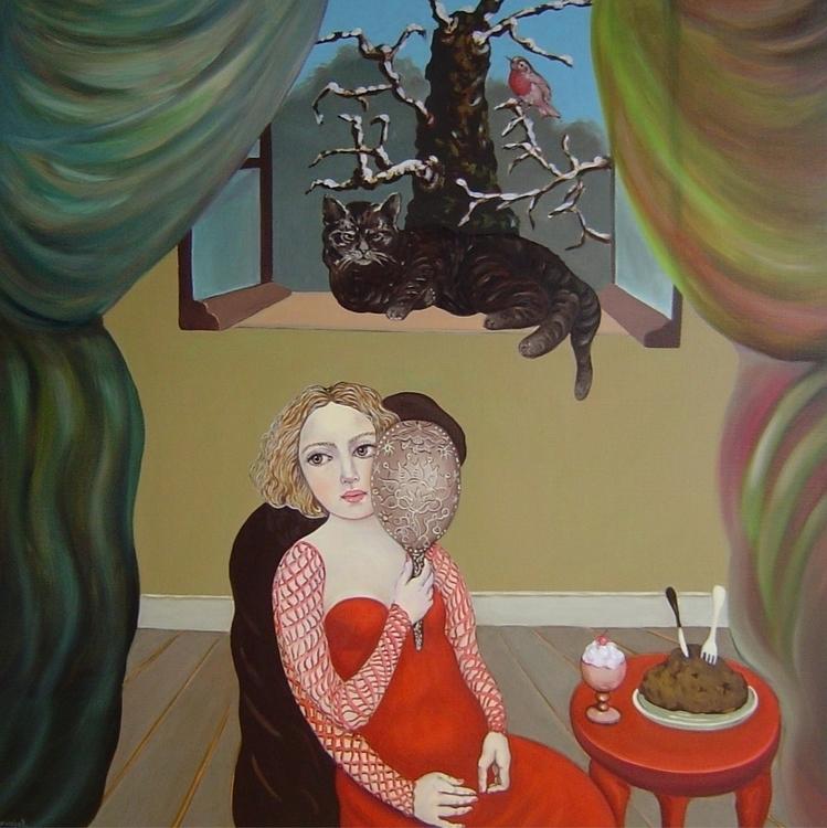 Le couple - painting, oilpaintingoncanvas - nicolemanieu | ello