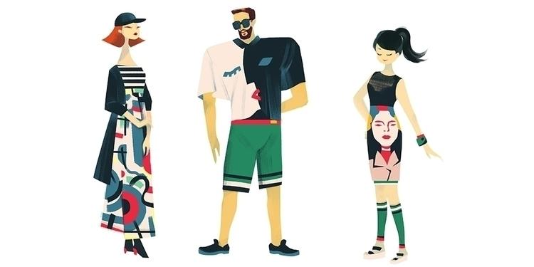 Fashion Paper Dolls - illustration - jasuhu | ello