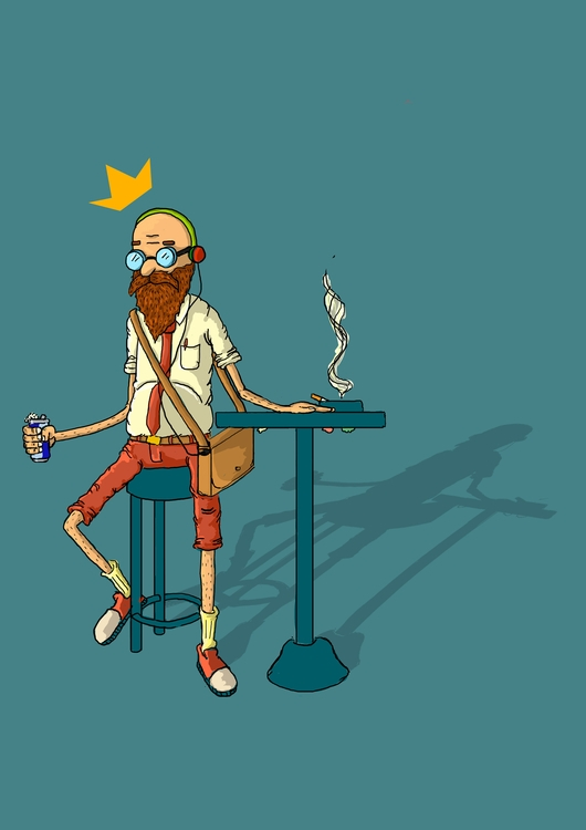 hipster - illustration#digitalart#design#characterdesign#photoshop#painting#davisvrworks#drawing#conceptart - greenstach | ello