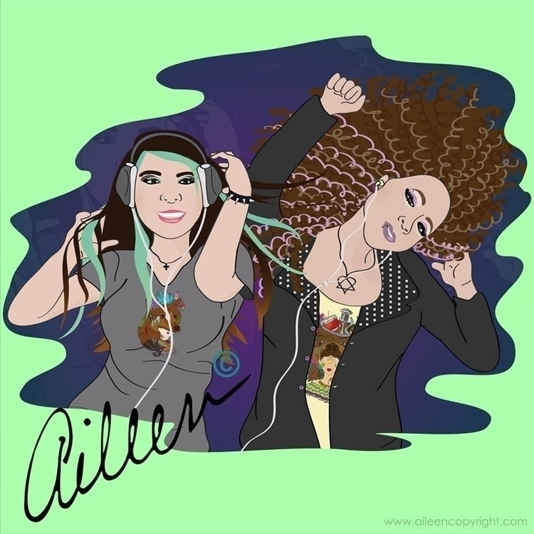 Adriana Valdez: Roxanna - illustration - aileencopyright | ello