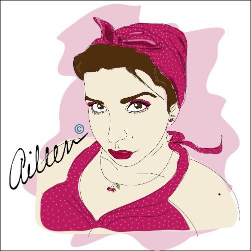Aileen - portrait, illustration - aileencopyright | ello