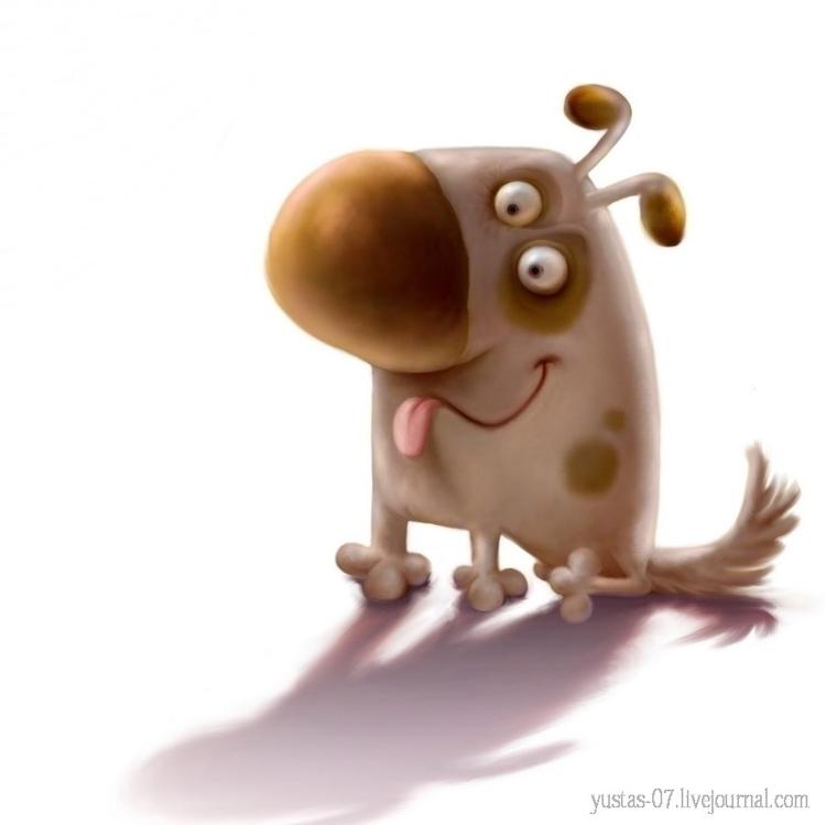 Dog - dog, characterdesign - yustas   ello
